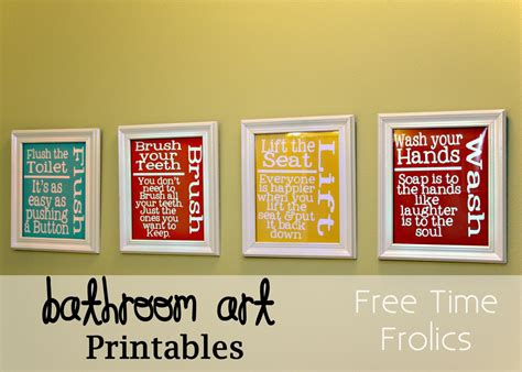 free printable wall art for bathroom free printable bathroom subway art just b cause