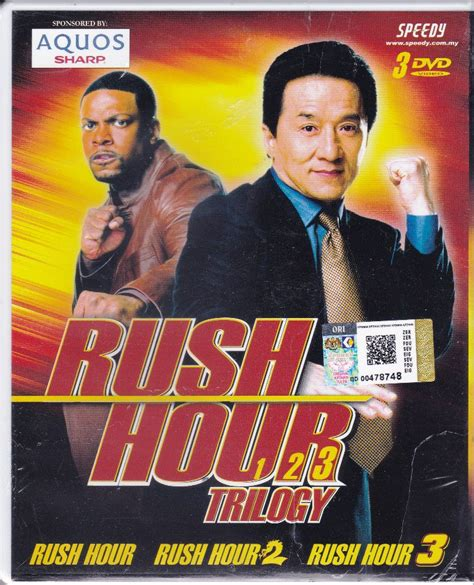 jackie chan rush hour 1 dvd jackie chan rush hour 1 2 3 trilogy movie collection