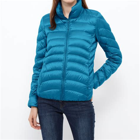 uniqlo women ultra light down parka uniqlo women ultra light down jacket in blue for men lyst