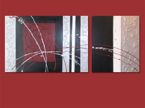 cuadro abstracto cuadro trptico moderno abstracto pintado a mano car