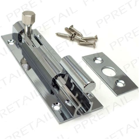 bathroom door latch quality chrome cranked slide bolt 75mm necked bathroom