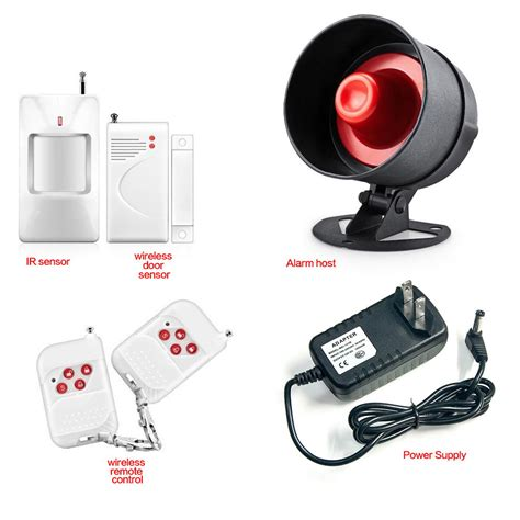 wireless remote siren pir motion burglar alarm