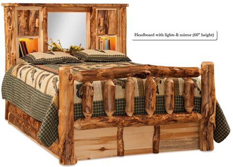 Log Headboard And Footboard by Buy A Crafted American Made Rustic Pine Log Bed With