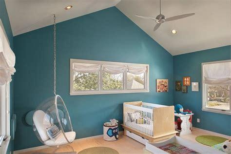 chambre garcon vert et bleu design de
