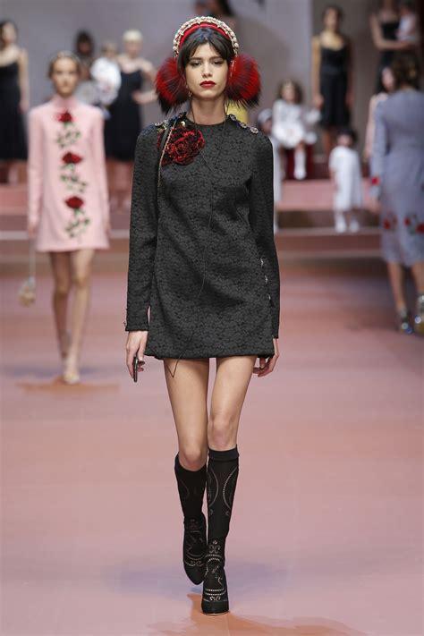 Fallwinter Fashion Dolce Gabbana Fashion Show by Dolce Gabbana Winter 2016 Napoleonia
