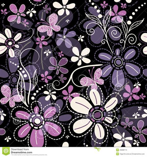 floral garden repeat pattern free repeating floral pattern stock vector image 29088774