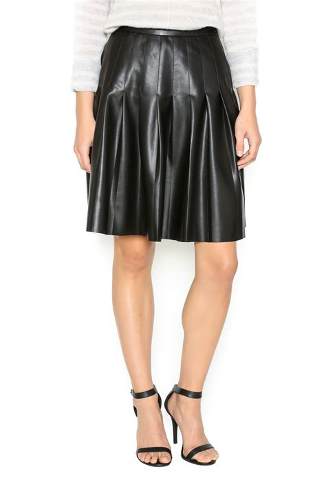 tart clothing pleated faux leather skirt from chicago by