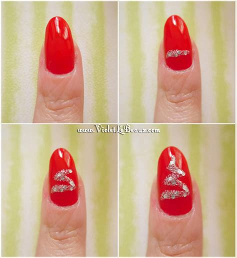 christmas nail art tutorial easy how to do christmas tree nail art tutorial violet