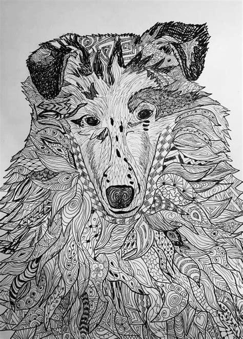 dog pattern drawing animal zentangle patterns www pixshark com images