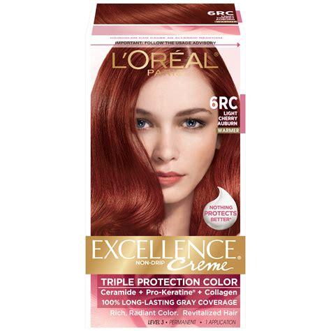 hairdresser loreal lowligh cvolours l oreal 6rc warmer light cherry auburn hair color 1 kt box