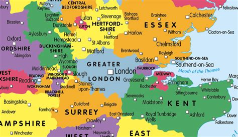 map uk showing counties children s united kingdom map of counties and regions