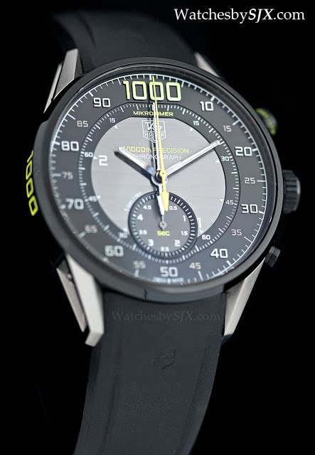 Tag Heuer Mikrotimer on with the tag heuer mikrotimer flying 1000 the 1 1000th second chronograph with live