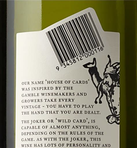 house of cards winery house of cards wine on packaging of the world creative package design gallery