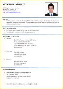 Formal Resume by 6 Resume Formal Format Paradochart
