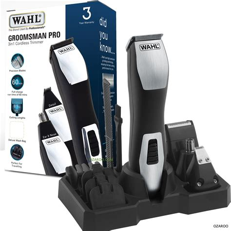 Travelling Pouch 4 In 1 wahl mens 3 in 1 cordless trimmer shaver clipper in