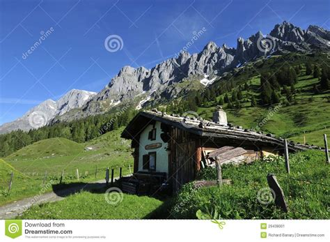 Alpine Cottages by Alpine Cottage Stock Image Image 29438001
