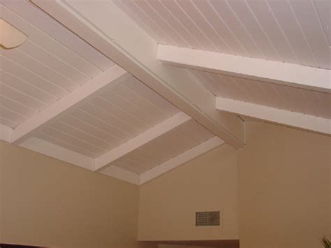 Ceiling Beams White by White Planks With White Beams On Ceiling Home