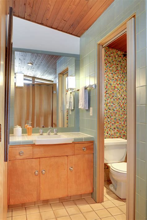 Mid Century Bathroom Tile by Design A Confetti Tile Bathroom Wall Using Clayhaus