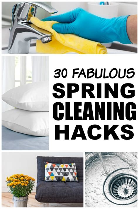 spring cleaning hacks 30 spring cleaning hacks