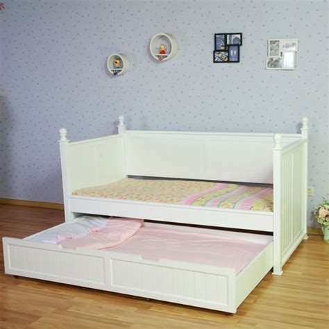 Princess Bed Frames Princess Single Bed Frame W Trundle In White Buy Trundle Beds