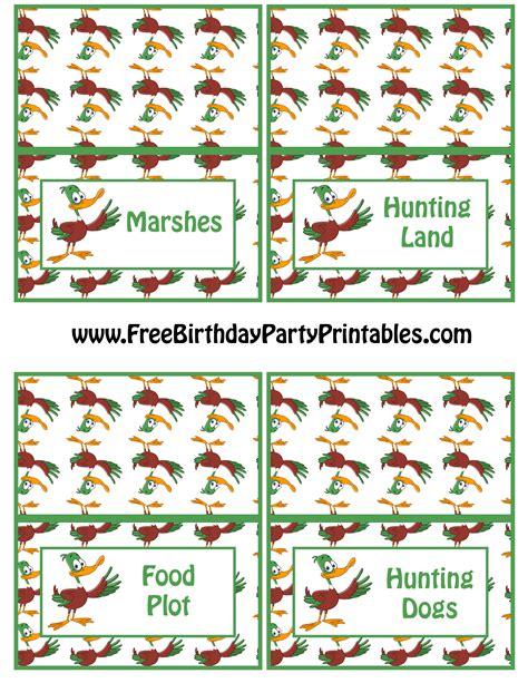 printable birthday card hunting duck hunting birthday party printables