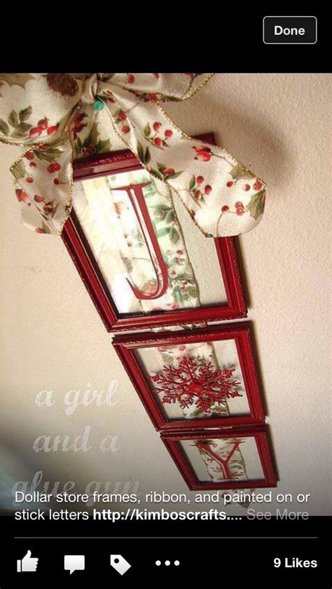dollar tree christmas letters dollar store photo frames painted ribbon and sticker letters