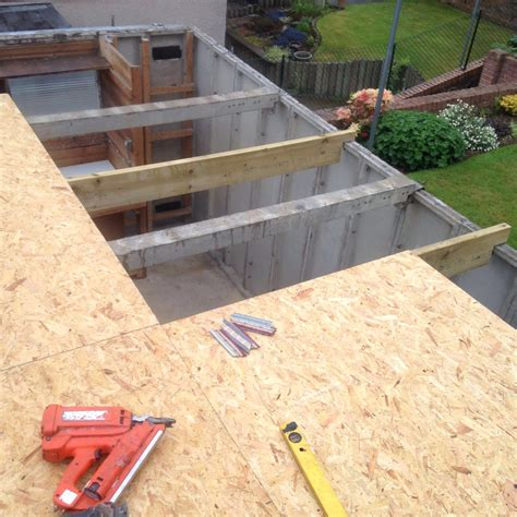garage roofs asbestos garage roof renewal edinburgh km roofing
