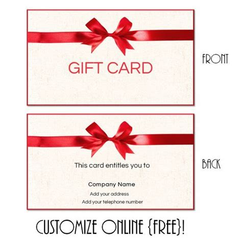 19 Best Ideas About Gift Cards On Pinterest Logos Its You And Free Gift Cards Gift Certificate Template With Logo