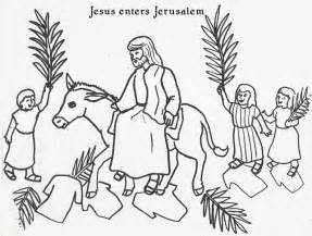 coloring page jesus rides into jerusalem jesus triumphal entry into jerusalem crafts