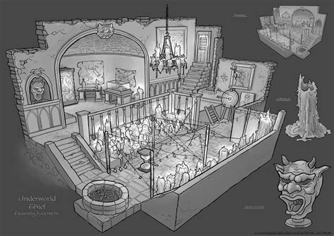 rpg room feng zhu design school rpg room designs illustration rpg environment and