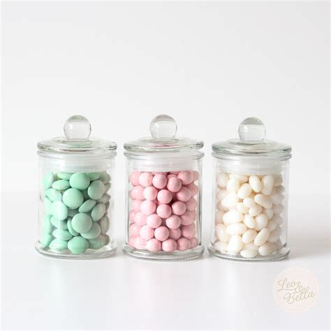 what are jars leo mini glass apothecary favour jars