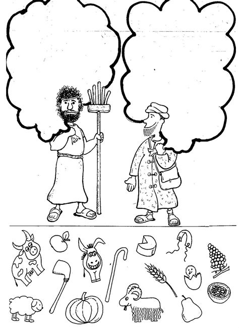 coloring sheet cain and abel cain and abel coloring page