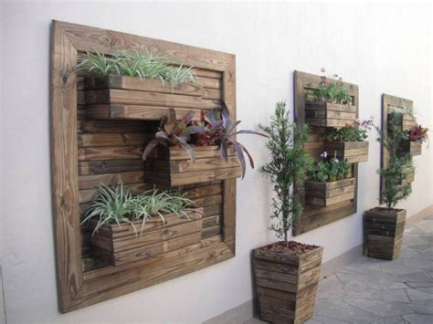 patio wall planters think green 20 vertical garden ideas