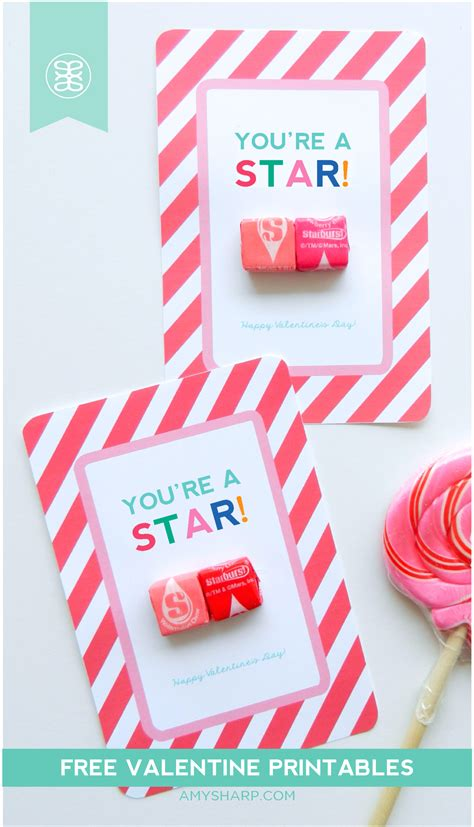 printable starburst free valentine s day card printable you re a star just