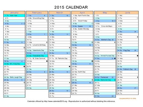 printable calendar horizontal 2015 search results for calendar 2015 in excel calendar 2015