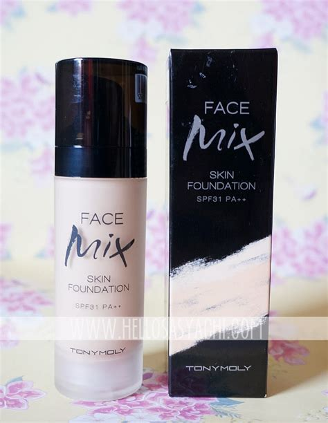 Harga Foundation Tony Moly sasyachi diary tony moly mix skin