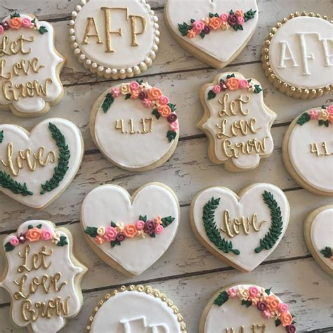 easy bridal shower cookie recipes let grow bridal shower cookies by thehayleycakes on etsy https www etsy listing