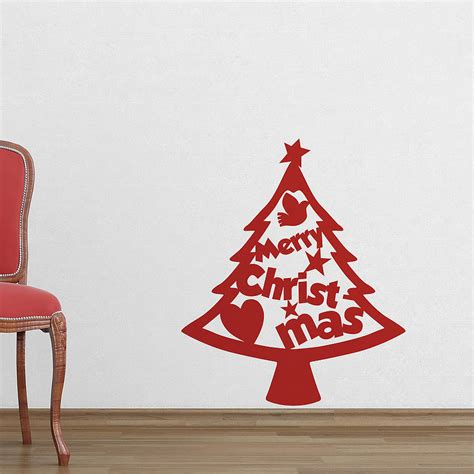cutout christmas tree wall stickers by the binary box