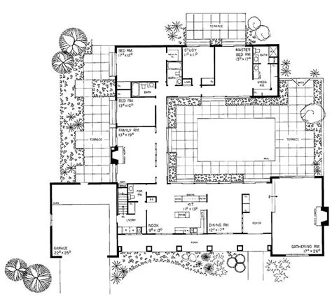 House Plan With Courtyard Courtyard Plan House Plans For The Compound Ranch Homes House Plans And Squares