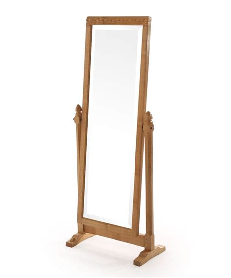 Bevelled Mirror by Solid Oak Long Dressing Mirror Be190 Shop