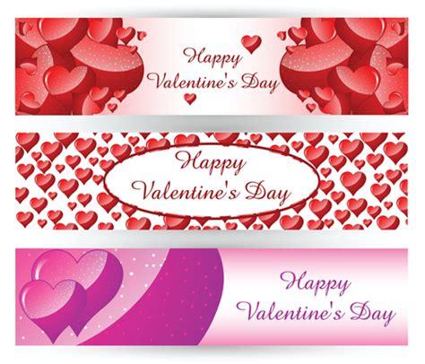 design banner valentine valentine day banners design vector vector banner
