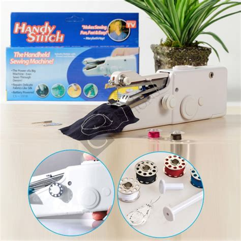 Handy Stitch Handheld Sewing Machine Mesin Jahit Portable Olb1297 mini sewing machine portable handheld buy review price