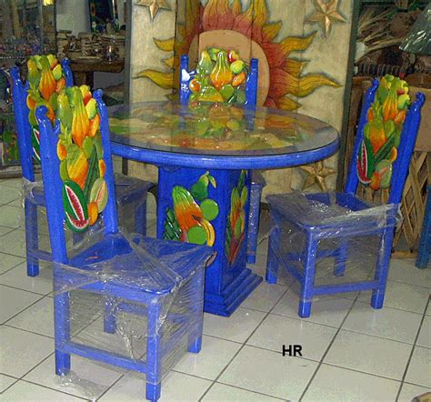 Painted Dining Room Tables by Dining Tables Carved And Painted Mexican Furniture Hacienda
