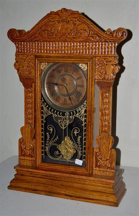 Gilbert Kitchen Clock by Antique Gilbert Oak Kitchen Clock T S With A Signed Paper D