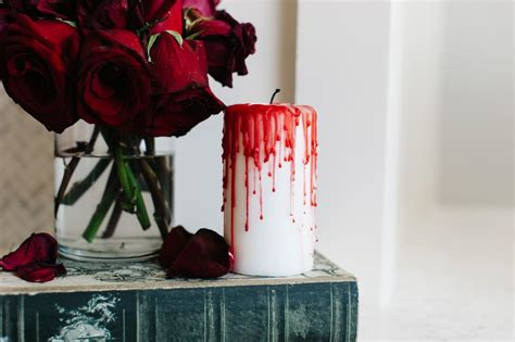 Diy Bloody Candles by 10 Spooktacular Mantels Diy Network Made