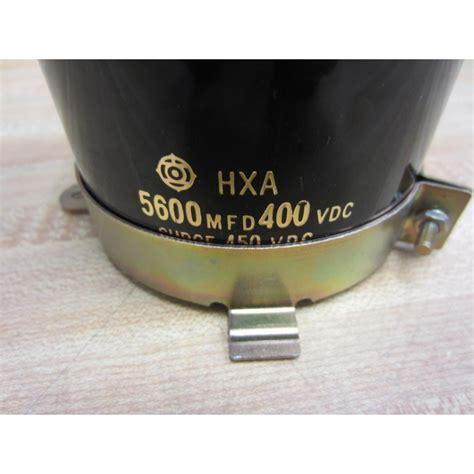 hxa 5600 mfd 400vdc capacitor used mara industrial
