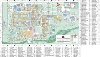 Miami University Map by Oxford Campus Map Miami University