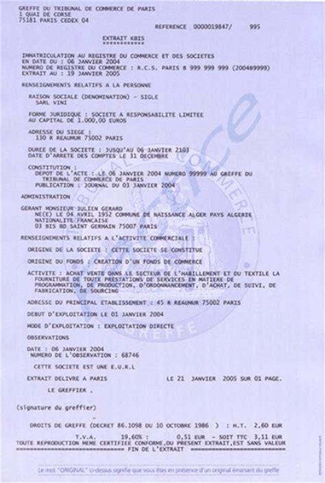 Modèle De Lettre Demande Extrait Kbis modele lettre demande extrait kbis document