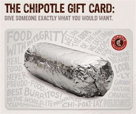 Can I Mail A Gift Card In A Regular Envelope - chipotle gift card
