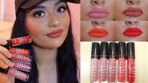 Jordana Sweet Liquid Lip Paint jordana sweet matte liquid lipcolor lip swatches review